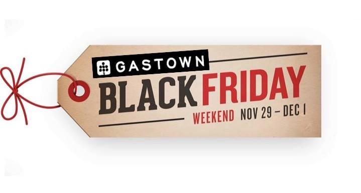 black friday in Vancouver gastown