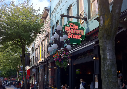the blarney stone pub in gastown vancouver