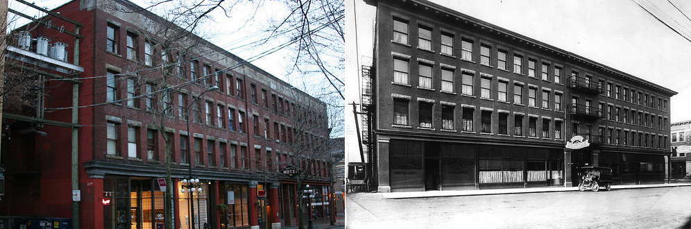 Winters Hotel. Now and Then.