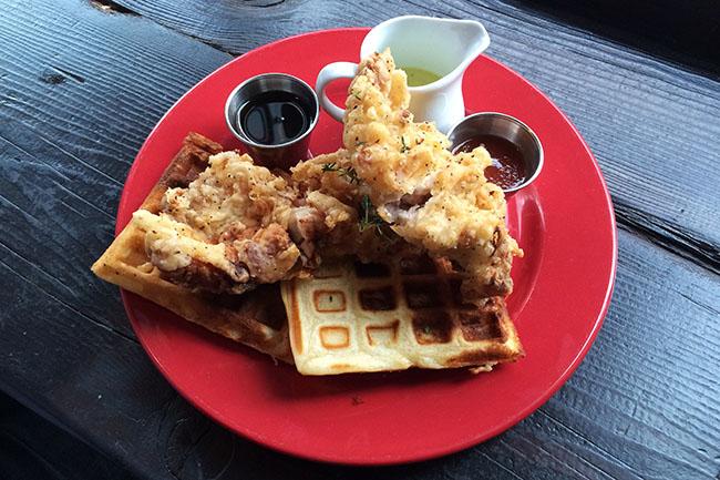 Tuc Craft Kitchen brunch Chicken and waffles