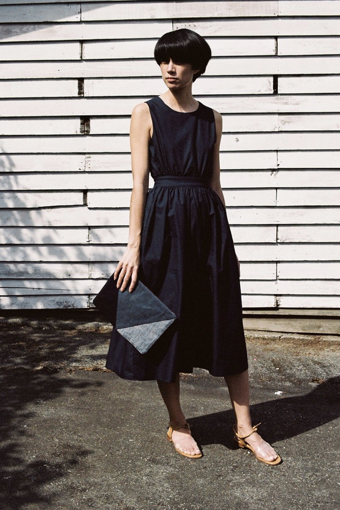 Objects Without Meaning Button Back Dress Martiniano Cristal Clare V Patchwork Flat Clutch 2