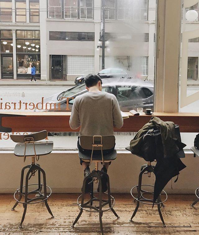 Working at the window. @timbertrain Photo by @jackymchui